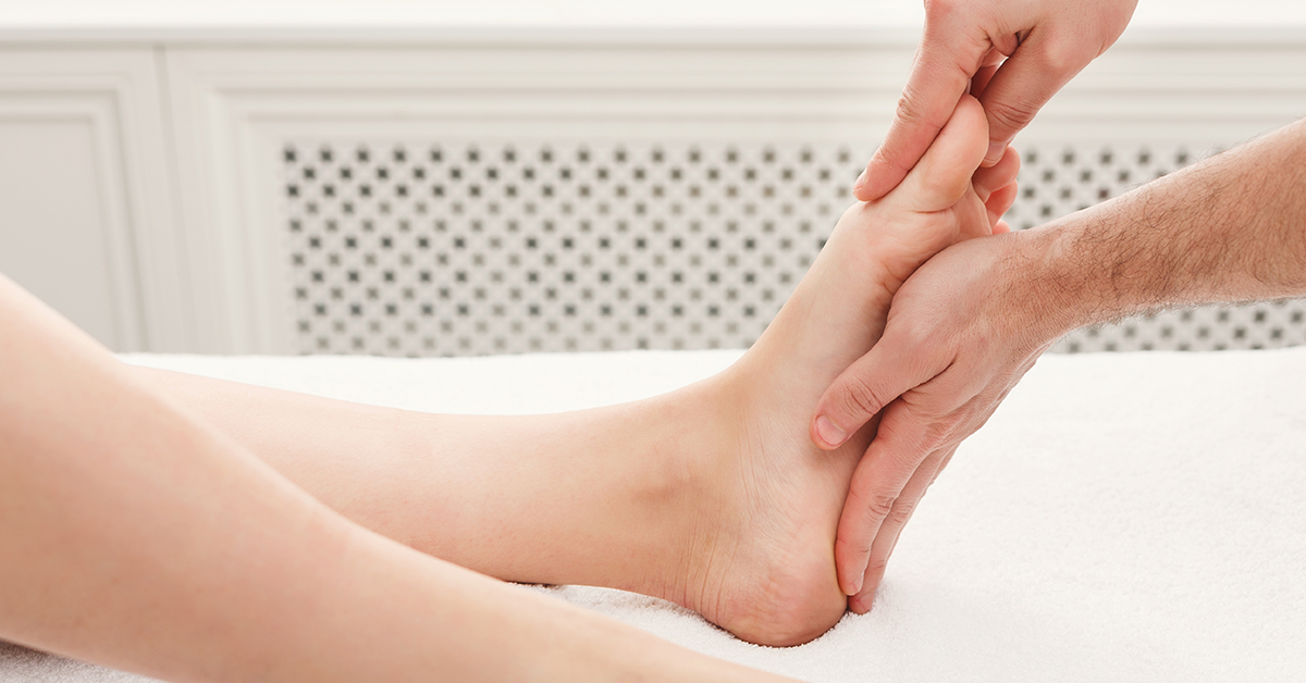 Acupressure performed by a podiatrist